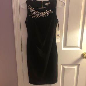 Calvin Klein black embellished dress